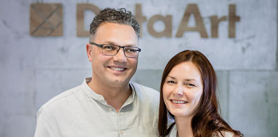 Zdjęcie przedstawia przedstawicieli firmy Data Art