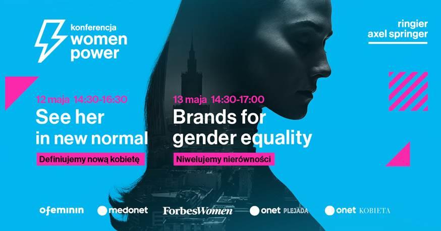 Grafika przedstawia zaproszenie na konferencję Women Power
