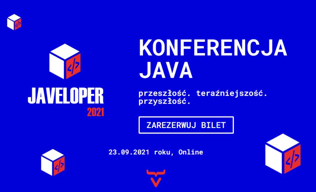 Grafika zapraszająca nakonferencję Javeloper 2021